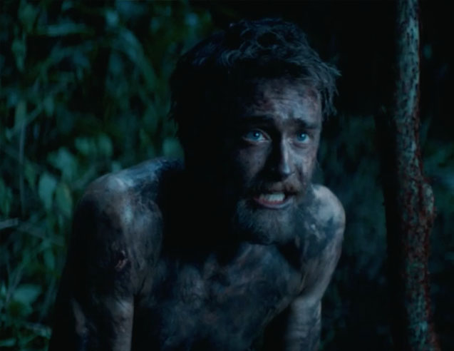Daniel Radcliffe's survival skills are tested in new Jungle trailer